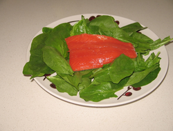 Salmon contains saturated and unsaturated fatty acids