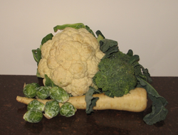 Cauliflower and Brussels sprouts are also cruciferous vegetables
