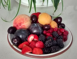 Stone fruits and berries