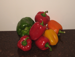 Peppers are a good source of vitamins A, C, K, B6, thiamin, niacin and folate