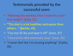 Where are the testimonials from unsuccesful users?