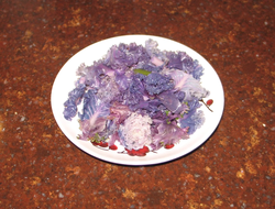 Lightly steamed purple kale