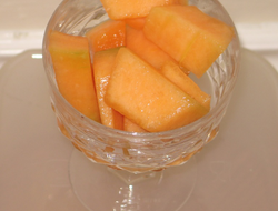 Fresh cantaloupe ready to eat