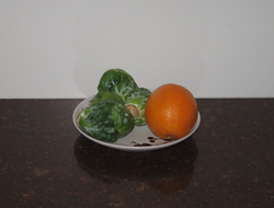Brussels sprouts and oranges are excellent sources of vitamin C