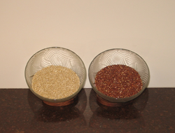 White and red quinoa seeds