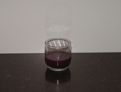 1/2 cup of pure cranberry juice dilute to taste